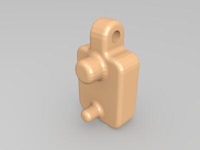 凸轮锁裁纸刀-3d打印模型