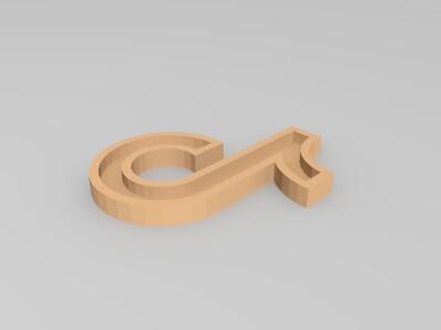 抖音Logo-3d打印模型