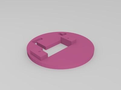 舵机云台架-3d打印模型