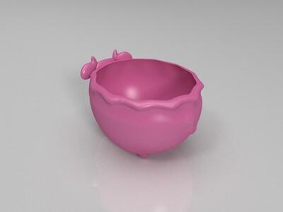 奶牛多肉植物花盆-3d打印模型