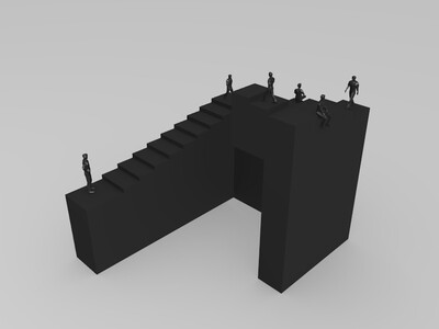 彭罗斯楼梯-3d打印模型