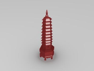 文昌塔 (风水吉祥物)-3d打印模型
