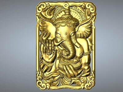 经典玉雕系列-象神-3d打印模型
