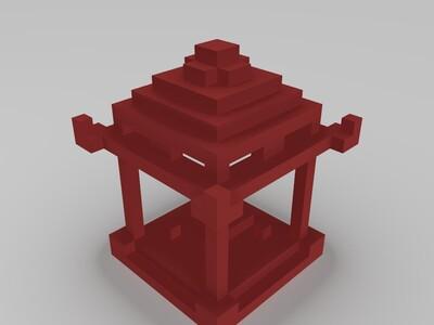 亭子201809-3d打印模型