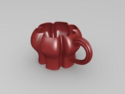 花瓣形杯子-3d打印模型