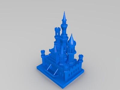 玩具城堡-3d打印模型