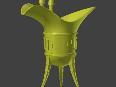青铜爵 两部分 容易打印-3d打印模型