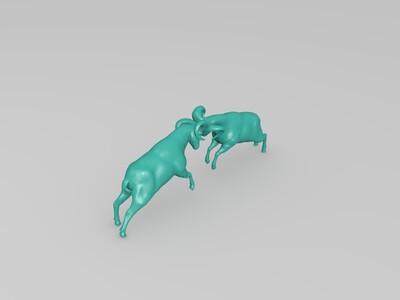 顶头山羊-3d打印模型