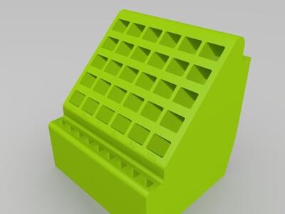 钻头刀具手工工具等分类收纳盒子-3d打印模型