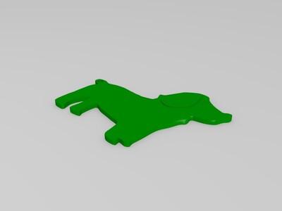 小狗挂件-3d打印模型