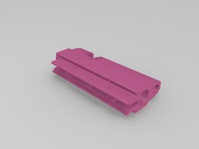 精品B50座子型材部分切割好-3d打印模型