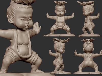 茶宠 葫芦娃 吐水 ZB精雕 3d打印 ztl obj格式-3d打印模型