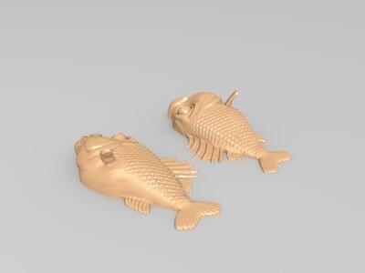 钥匙扣鱼-3d打印模型