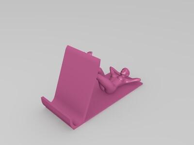 美女手机支架-3d打印模型
