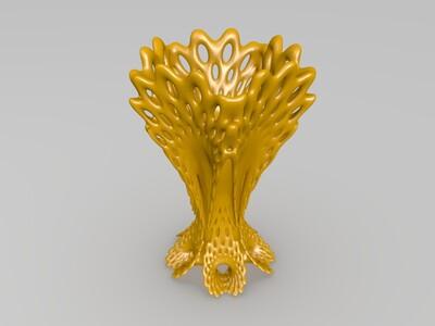 镂空艺术花瓶-3d打印模型