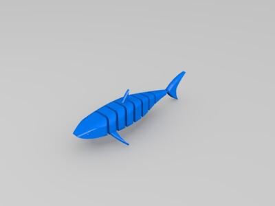 铰接的3D鲨鱼-3d打印模型