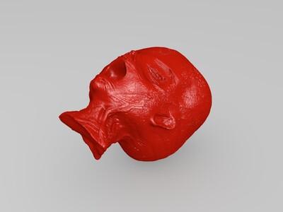 木乃伊头部-3d打印模型