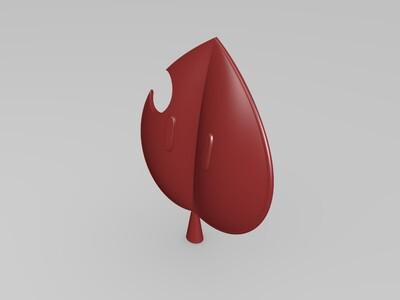 马里奥狸猫树叶-3d打印模型