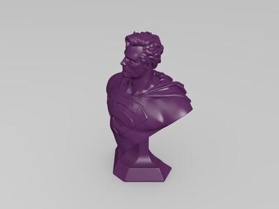超人半身像-3d打印模型