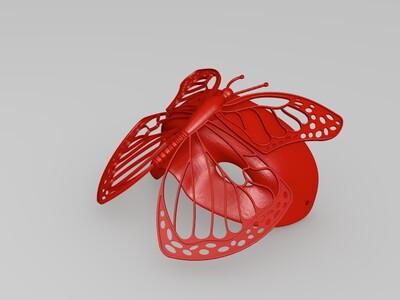 蝴蝶面具-3d打印模型