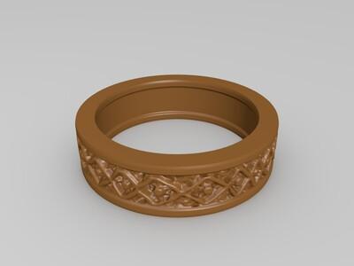 几何戒指-3d打印模型