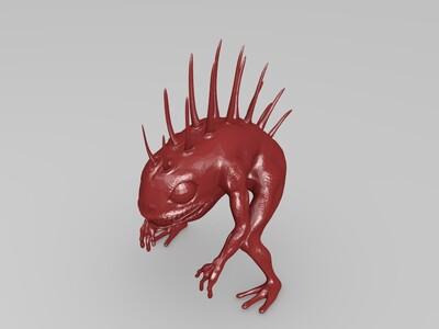 《魔兽世界》鱼人-3d打印模型