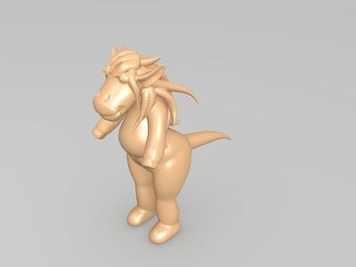 小马-3d打印模型
