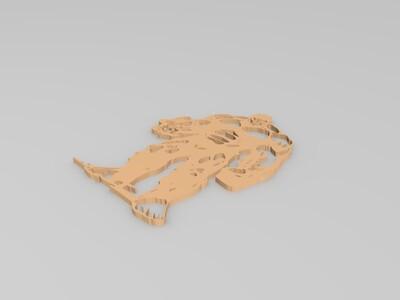 漫威 浩克镂空-3d打印模型
