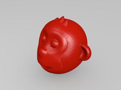 猴-3d打印模型