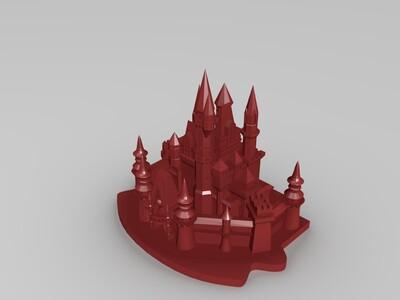 灰姑娘城堡-3d打印模型
