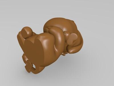 小熊 维尼和他的 朋友 们 -3d打印模型