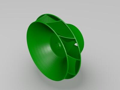 塔式风叶-3d打印模型