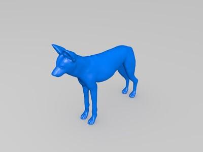 非洲野狗-3d打印模型