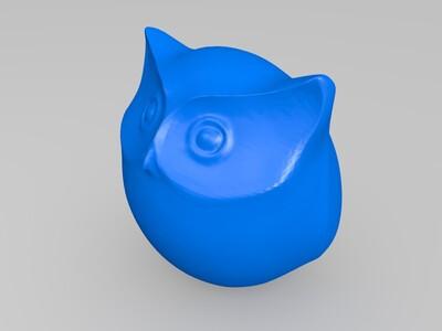 圆滚滚的猫头鹰-3d打印模型
