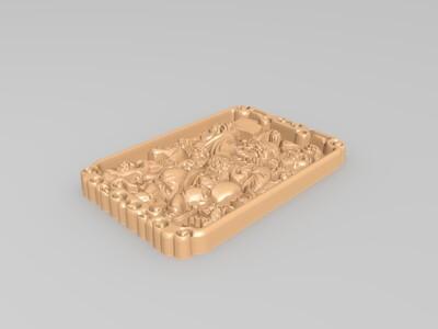 經典玉雕系列-鍾馗宴請五鬼-3d打印模型