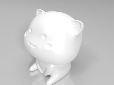 蜜桃猫-3d打印模型