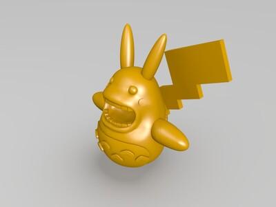 皮卡丘-3d打印模型