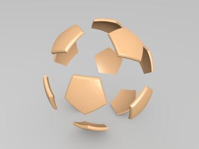 双色足球-3d打印模型