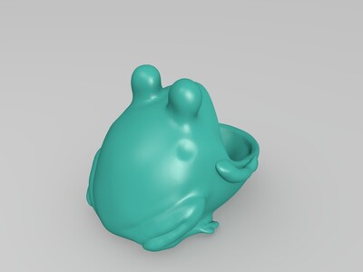 大嘴蛙杂物罐花盆-3d打印模型