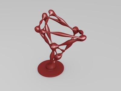 现代抽象雕塑-3d打印模型