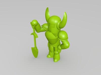 角工兵 和 铲-3d打印模型