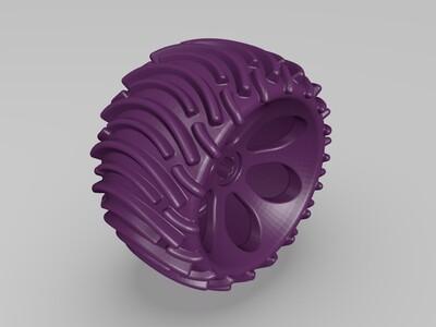 跑车轮胎-3d打印模型