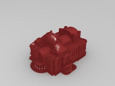 墨西哥艺术宫-3d打印模型