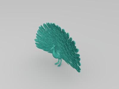 孔雀-3d打印模型