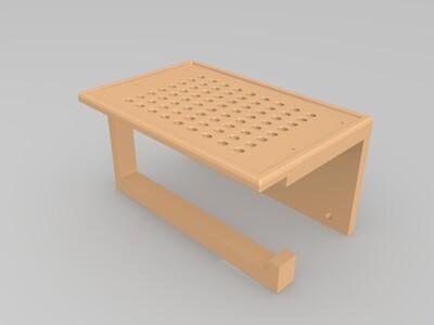 卫生间纸盒-3d打印模型