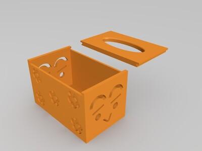 镂空雕花抽纸盒-3d打印模型