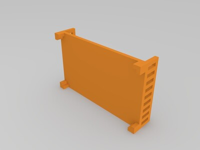 床-3d打印模型
