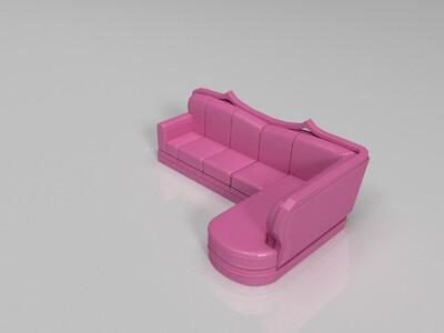 沙发-3d打印模型
