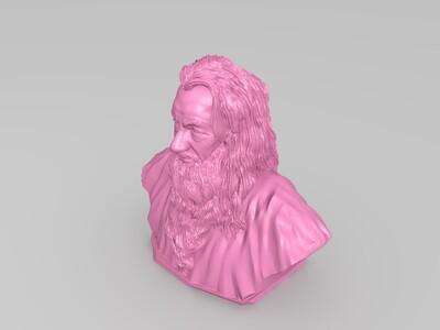 甘道夫半身雕像-3d打印模型