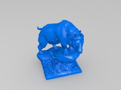 犀牛-3d打印模型